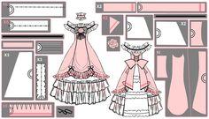 Ciel Phantomhive Ballgown Cosplay Pattern Draft by Hollitaima.deviantart.com on @deviantART
