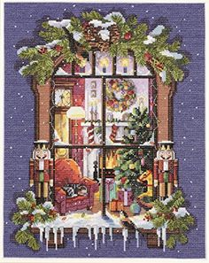 Janlynn 14 Count Christmas Window Picture Counted Cross Stitch Kit, 11 by 14-Inch Janlynn http://www.amazon.com/dp/B003W17DGI/ref=cm_sw_r_pi_dp_yhfBwb198N86D