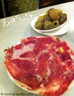 jamón Ibérico de bellota and olives - Las Teresas
