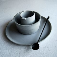 Ceramics by Jono Smart. Spoon by Luke Hope