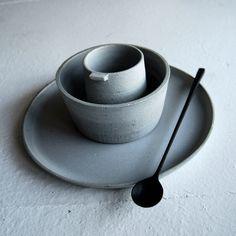 Ceramics by Jono Smart. Spoon by Luke Hope