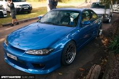 Nissan S-14 240sx with JDM-spec S15 Silvia front end conversion. Cavallino-cars-and-coffee-30