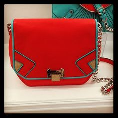 Red and turquoise gorgeousness at @Rebecca Minkoff #resort