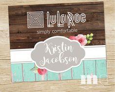 LuLaRoe Shop Sign, LuLaRoe Custom 5x5 or 8x10 Consultant Sign, Best Lularoe facebook album cover for online sales, rustic wood, vintage, shabby chic style by MulliganDesign via Etsy
