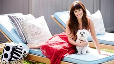 Lea with her dog