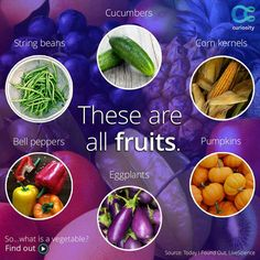 """Vegies"" that are fruits"