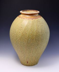 Wheel-thrown and Faceted Stoneware Vase / Jar by Hsinchuen Lin