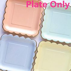 Dinnerware Paper Plate  Candy Color Party Supply Tableware 8pcs Type: Event & Party Supplies Occasion: Party Model Number: CP060 Material: Paperboard Event & Party Item Type: Plate  Type:candy color paper plates Occasion:Valentine,Birthday, Wedding,Nursery,Party,festival Size:9inch square/7inch round Material:paper Packing:8pcs/lot plate only  Shape:show as the photo