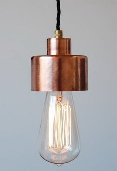 Simply Cool Products - Edison Bulb Pendant Style Copper Hanging Light