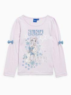 Tee-shirt la reine des neiges manches longues frozen disney de 3 à 8 ans n°1
