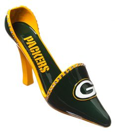 Green Bay Packers High Heel Shoe Wine Bottle Holder