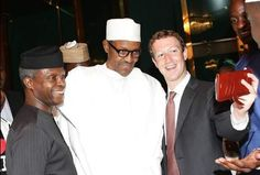 President Buhari receives Mark Zuckerberg in Aso Rock today   Something happened probably government was taken unawares by the visit of the 7th richest man in the world to Nigeria. Anyway Mark Zucherberg is back in Nigeria. He meet with President Buhari and VP Osinbajo along with other government officials in the villa today. More photos...  News