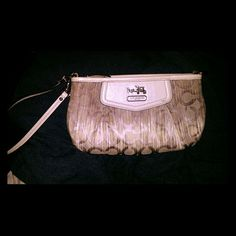 Ombre style coach clutch Purple and white ombre medium sized clutch Coach Bags Clutches & Wristlets