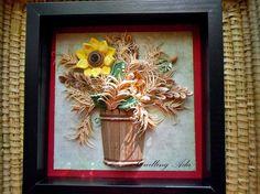 Quilling by Ada: Floarea-Soarelui cu spice de grau