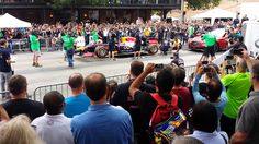 US National Anthem by F1 car - Austin, TX 2014