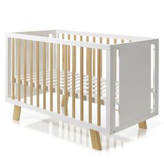 Featured heavily throughout our nursery range, the Cooper Timber Cot is a fabulous addition to any nursery. Made from New Zealand pine, with a white painted frame and natural timber slats and legs, it's simple, yet striking design will match any decor and style.Other features include a 2 base position, for easy adjustments.