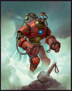 Ironman Steampunk by Aleksandr Nikonov (Tony Stark Industries / Iron Man / Marvel / Avengers) Comic Character, Character Concept, Concept Art, Character Design, Character Modeling, Art Steampunk, Steampunk Gadgets, Iron Men, Comic Books Art