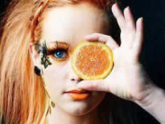 Sombra de ojos naranja para el otoño 2012