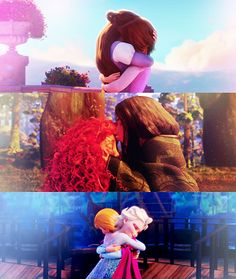 Family  =) I can't see wait to Frozen  Loved Brave and Tangled Me at 15 and now =)