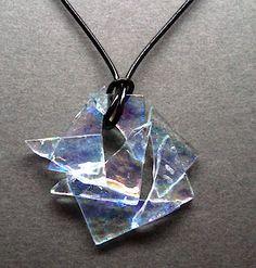 Iridescent Fused Glass Pandant
