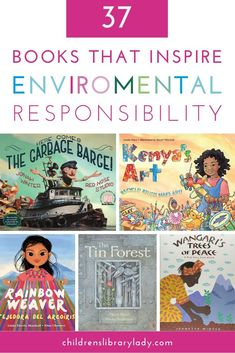 Help the younger generation save the planet with these amazing picture books about the environment and climate change. These environment-themed books focus on different aspects of saving the planet including deforestation, plastic reduction and saving habitats. They explain environmental issues in ways for children of different ages to understand. Reading Activities, Teaching Reading, Reading Resources, Reading Lists, Preschool Activities, Teaching Kids, Book Of Changes, Earth Book, Mentor Texts