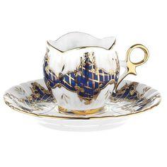Turkish Coffee Cup    Handmade & Gold Embossed   KF by artTURKA, $74.50