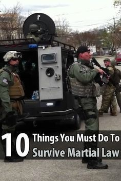 If martial law is imposed, make sure you don't get caught in a riot, pay attention to what's happening, and be ready to evacuate at a moment's notice.