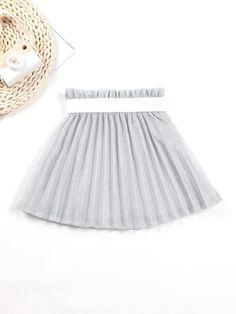 Girls Paperbag Waist Glitter Pleated Skirt – Kidenhouse Leopard Print Skirt, Floral Print Skirt, Floral Prints, Girl Skirts, Ditsy Floral, Printed Skirts, No Frills, Pleated Skirt, Color Blocking