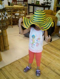 My jeanine wearing a native hat...