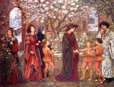 The Athenaeum - STILLMAN, Marie Spartali English Pre-Raphaelite (1844-1927)_The Enchanted Garden of Messer Ansaldo- 1889