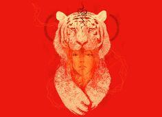 Tigress - Threadless.com - Best t-shirts in the world -- I LOVE tigers.. Sweet graphic