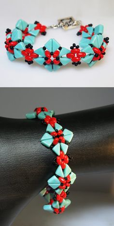 "Schema and video about ""Tango"" beads. #Seed #Bead #Tutorials"