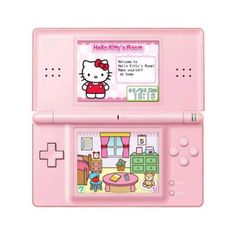 Wii-DS - Alles over de Nintendo DS, de Nintendo 3DS en Wii - Hello... ❤ liked on Polyvore featuring fillers, electronics, hello kitty, pink e pink fillers