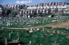 A graveyard has been established in what was once part of the Olympic Sports Complex in Sarajevo for the 1984 Winter Olympics