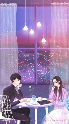 Cute Couple Drawings, Cute Couple Cartoon, Cute Couple Art, Anime Couples Drawings, Anime Love Couple, Cute Couple Wallpaper, Anime Scenery Wallpaper, Romantic Anime Couples, Cute Anime Couples