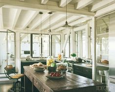 Meg Ryan's beach house kitchen (as seen in Elle Decor). Description from pinterest.com. I searched for this on bing.com/images