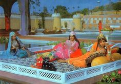 Time stands still as history unfolds a page... PARVEEN BABI and HEMA MALINI in all their beauty and grandeur in Kamal Amrohi's classic 'Razia Sultan' (1983).