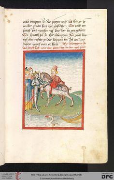Universitätsbibliothek Heidelberg, Cod. Pal. germ. 345: Universitätsbibliothek Heidelberg, Cod. Pal. germ. 345 Lohengrin ; Friedrich von Schwaben (Stuttgart (?) - Werkstatt Ludwig Henfflin, um 1470)