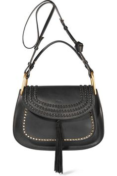 Black leather (Calf) Snap-fastening front flap Comes with dust bag Weighs approximately 2.9lbs/ 1.3kg Made in Italy As seen in THE EDIT magazine