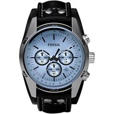 Shop for Fossil Men's CH2564 Black Leather Quartz Watch. Get free delivery at Overstock.com - Your Online Watches Shop! Get 5�0in rewards with Club O!
