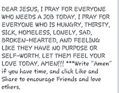 Prayer for those in need