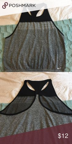 Nike dri fit tank top It fits loose, and the cut out comes down low to almost waist line. Perfect for running in hot environment. Never worn Nike Tops Tank Tops