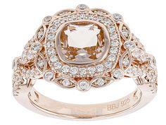 Bella Luce (R) Esotica (Tm) 1.88ctw Morganite & White  Diamond Simulants Eterno (Tm) Rose Ring