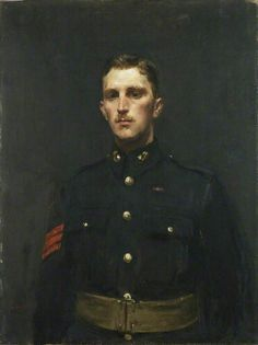 """Sergeant Norman Augustus Finch VC, Royal Marine Artillery"" by Ambrose McEvoy Imperial War Museums British Royal Marines, British Army, Military Art, Military History, Military Uniforms, Marine Commandos, Boxer Rebellion, American Revolutionary War, Oil Portrait"
