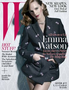 Emma's W magazine for The Bling Ring.