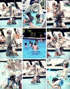 Harry really does look like Tarzan and Niall looked so pale... BUT JESUS TAKE ME NOW THEY ARE SHIRTLESS AND WET AND ON EACHOTHERS NECK!!!!