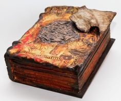 """Купить Шкатулка """"Таинственная Книга Фолиант"""" - шкатулка, шкатулка деревянная, шкатулка декупаж, авторская шкатулка"""