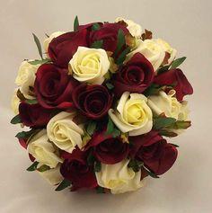 burgandy wedding | Burgundy Overarm Bouquet Floral Designs Silk Wedding Flowers Pictures