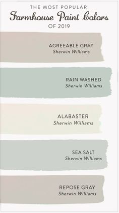 master bedroom paint colors Find the most popular farmhouse paint colors of From alabastar to agreeable gray, check out our list to help you decide the best color for y Farmhouse Paint Colors, Paint Colors For Home, Farmhouse Design, Farmhouse Interior, Beach Paint Colors, Living Room Paint Colors, Basement Paint Colors, Paint Colors For Bedrooms, Furniture Paint Colors