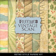Far Far Hill: New Freebies Kit of Retro Style Papers